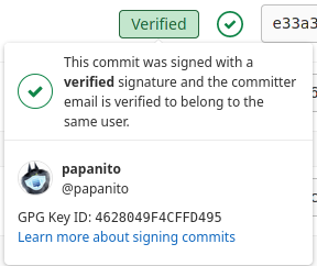 Example of a signed git commit
