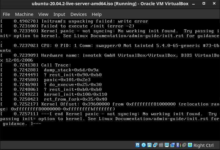 ubuntu kernel panic